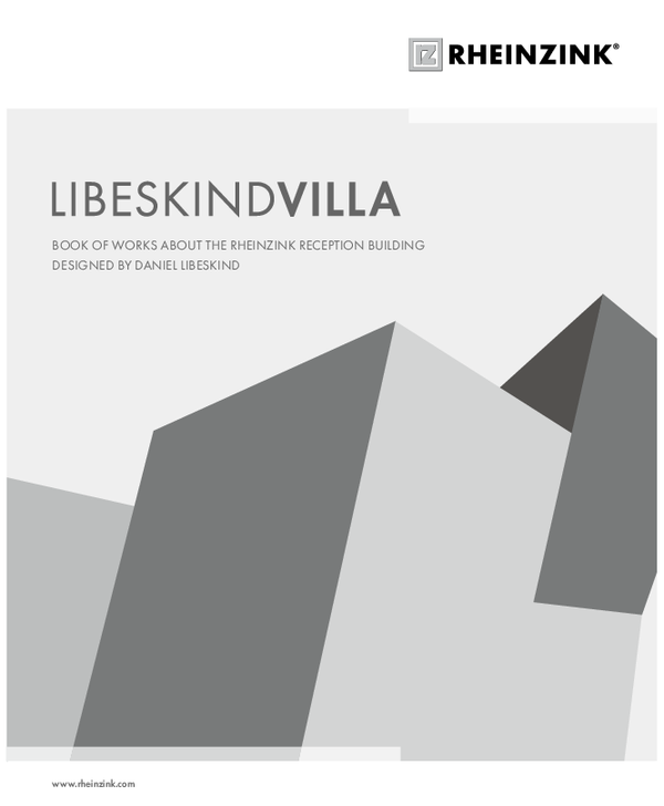 Libeskindvilla Book of works about the RHEINZINK reception building